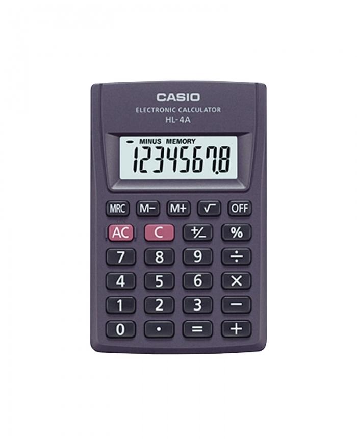 4da89393ec74 Calculadora Casio HL-A4 Gris de Bolsillo Sin Tapa
